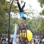 多摩動物公園での大道芸 大道芸人GEN(ジェン)のサーカスショー