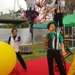 第4回八幡山公園祭り 2019年11月宇都宮タワーの大道芸イベントで行われたサーカスエンターテイメントショー
