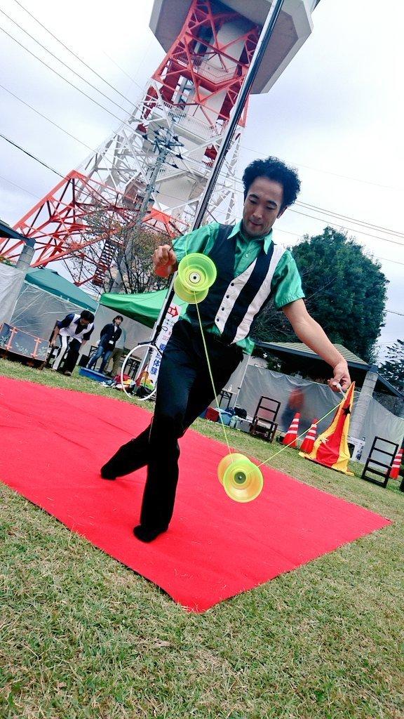 第4回八幡山公園祭り 宇都宮タワーのふもとでの大道芸イベント ハッピーメリーカス