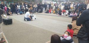 たいちの上野公園での大道芸