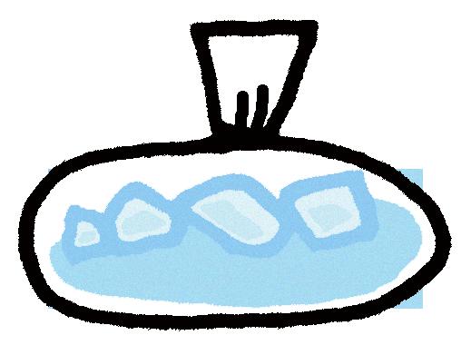 アイシングの為の氷のイラスト