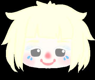 クラウン(ピエロ)ロイくんの顔のイラスト