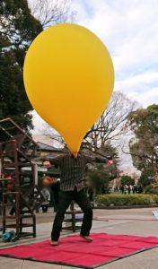 大道芸人GEN(ジェン)の風船人間、上野公園でのヘブンアーティスト活動
