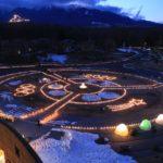 幻想的で美しい野辺山高原アイスキャンドルフェスティバル2020での大道芸イベント