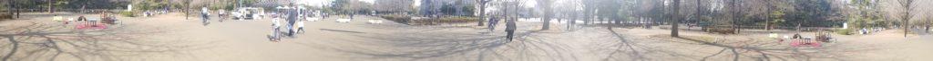 光が丘公園ヘブンアーティスト売店前ポイントパノラマ撮影